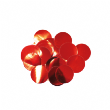 Metallic Red Foil Confetti | 10mm Metallic Round | 50g Bag
